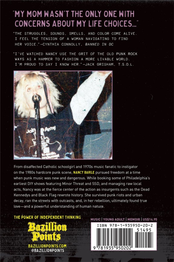 *** 2nd Preorder Ships March 15 *** I'M NOT HOLDING YOUR COAT: My Bruises-and-All Memoir of Punk Rock Rebellion, by Nancy Barile